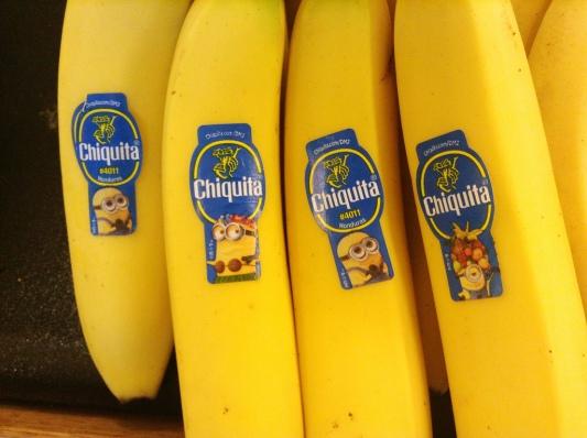Chiquita ha creato nuovi bollini collezionabili con diversi Minion.