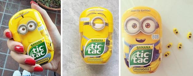 e per finire in bellezza, Tic Tac alla banana con personalizzazione non solo nel packaging ma anche sui confetti stessi!